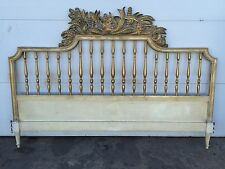 Hollywood Regency Style Ornate Carved Gold Gilt King Size Headboard Vintage