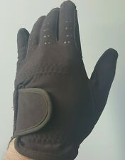 Brand New Horse Riding Gloves Micro Suede Gloves Brown Size 10 Years