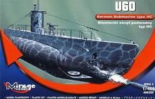 Mirage Deutsches U-Boot U-60 Typ II C Modell-Bausatz 1:400 German Submarine kit