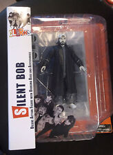 """Diamond Select Movie Clerks Black and White 7"""" Action Figure Silent Bob New"""