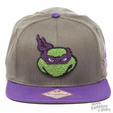 Teenage Mutant Ninja Turtles Donatello Fuzzy Licesned Gray Snapback Cap Hat