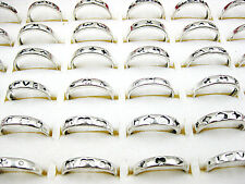20Pcs Wholesale Jewelry Lot Mixed Style Silver Plate Vintage Rings Free Shipping