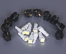 10set Twist Socket White PC74 T5 led 5050 SMD Instrument Panel Cluster Light kit