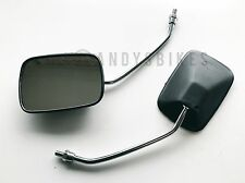Uni Mirror Pair 8mm M8 Motorcycle Mirrors HONDA C50 C70 C90 CUB Chrome & Black