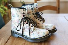 Doc Martens Womens Vintage Pink Floral Boots 7 M