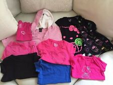 Large Lot Of 9 Size 5 Girls Tops Poncho And Shorts Hello Kitty Old Navy