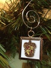 Harry Potter Gryffindor crest double sided Square Silver Ornament
