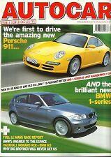 Autocar 15th June 2004, 911, 1-series, MG ZS 180, BMW M3 v Monaro, Grand Scenic
