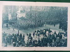 WW1 WAR 1918 LIBERATION OF BELGIUM BRUSSELS BRUGES KING ALBERT DOUBLE PAGE