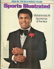 Sports Illustrated 12/23/74 Muhammed Ali Sportsman of the Year FC