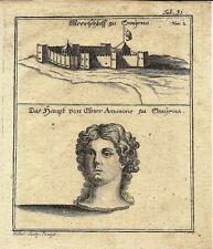 Ancienne gravure, smirna & meerschloss zu SMYRNE plaque 31
