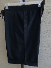 Women's Hanes Live Love Color French Terry Bermuda Cuffed Shorts XL Black