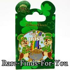 """Disney Parks Chip Dale St. Patrick's Day """"Luck 'O The Irish"""" Trading Pin (NEW)"""