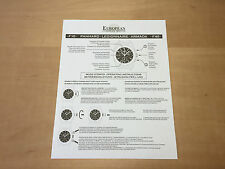 New - EUROPEAN COMPANY WATCH Instruction Manual - PANHARD F10 - For Collectors