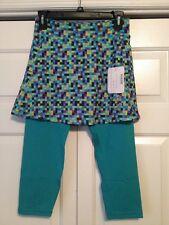 NWT Runningskirts Blue Green Purple Checked Running Skirt Capri 2 (4/6)
