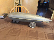 1930 Pressed Steel 25 inch Steelcraft Graf Zeppelin Pull Toy Military
