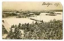Russian Imp Town View Vyborg Wiborg Real Photo PC 1917 Military Censor Stamp