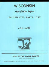 Factory Teledyne Wisconsin Engine AENL AEN Illustrated Parts List Manual