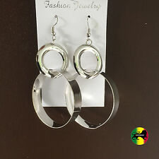 Empress Royalty Chrome Fashion Jewery Earrings Roots Reggae One Love Jamaica NEW