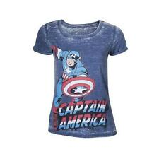 MARVEL Captain America Adult Female Super-Powered Soldier T-Shirt Small Blue