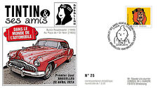 "FDC ""TINTIN et ses Amis - VOITURE / BUICK ROADMASTER - ABDALLAH"" 2014"