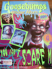 GOOSEBUMPS YOU CANT SCARE ME 1995 STICKER BOOK ALBUM  MERLIN RARE UNUSED