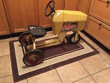 POWER CHAIN DRIVE PEDAL RIDING TOY TRACTOR yellow