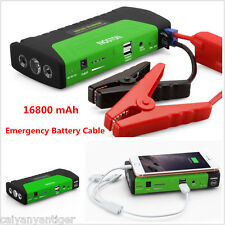Car 16800 mAh Power Bank Jump Starter Battery Charger Emergency Battery Cable