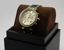 NEW AUTHENTIC MICHAEL KORS PARKER GOLD CRYSTALS CHRONOGRAPH WOMEN'S MK6238 WATCH