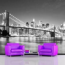 GIANT PHOTO WALLPAPER BROOKLYN BRIDGE NEW YORK MANHATTAN WALL MURAL 3.35 x 2.36m