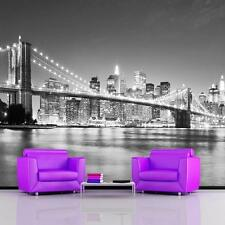 Gigante Foto Wallpaper Puente De Brooklyn New York Manhattan Mural De Pared 3,35 X 2,36 M