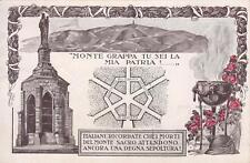 A8027) WW1, MONTE GRAPPA TU SEI LA MIA PATRIA, PROGETTO OSSARIO. VIAGGIATA.