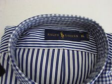 Ralph Lauren Classic Shirt Mens SIZE XL,ROYAL BLUE STRIPE, Long Sleeve NWT