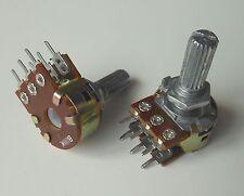 10pcs WH148 B20K Shaft 20mm Linear Dual Stereo Potentiometer Pot 20K
