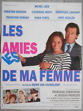 Affiche LES AMIES DE MA FEMME Didier Van Cauwelaert MICHEL LEEB 40x60cm