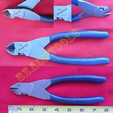 New Snap On Rare Blue Handle Vinyl Soft Grip Diagonal Cutter Pliers - 87CF