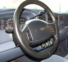 CHARCOAL 1989 VW Cabriolet Genuine Leather Steering Wheel Cover Wheelskins AX
