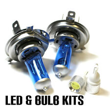 VW Transporter T5 2.0 100w Super White Xenon Main/Dip/Slux LED Side Light Bulbs