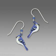 Blue Jay EARRINGS by Sienna Sky STERLING Silver Earwires Bird Dangle - Gift Box