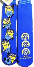 Despicable Me Minion Dave Stuart/ Carl Jerry Tim/ Kevin Phil Blue Slipper Socks