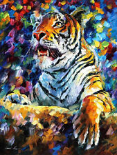 "Tiger  —  Oil Painting On Canvas By Leonid Afremov - Size: 24""x30"""