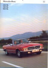 Mercedes-Benz R107 280SL 380SL 500SL Dutch market colour sales brochure 1981