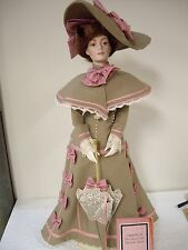 """Franklin Heirloom Dolls, The Gibson Girl""""s,- Day At The Race. (Gabriella) Doll"""
