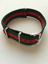 Green & Red Portugal Military Canvas Watch Strap 18mm NEW G10 MWC