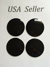 4pcs 3D Universal Aluminum Black 56 Mm/2 3/16 Wheel Center Caps Sticker