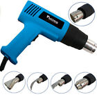 2000W Hot Air Heat Gun Dual Temperature Paint Stripper DIY Tool + 4 Nozzle