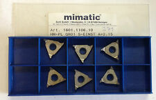 6 Indexable inserts Art.Nr. 1601.1106.10 HM-PL GR01 S ONCE A=2.15 K10 T553