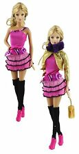 6in1 Fashion Clothes/Outfit Coat+vest+skirt+bag+Legging+shoes For Barbie Doll