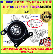 FOR LDV CONVOY LONDON TAXI 2.4 02-DIESEL JOCKY WHEEL VISCOUS FAN COUPLING PULLEY