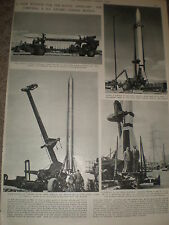 Photo article US nuclear guided missile Corporal Mark II 1955 ref Z